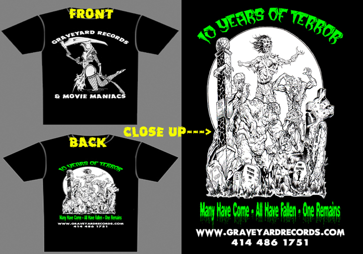 Graveyard Records 10th Anniversary Shirt