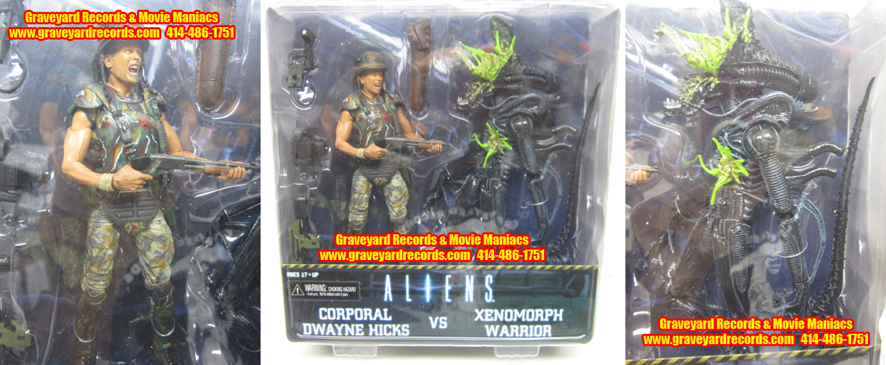 "8"" Aliens Series 2 Alien Warrior / Combat Hick 2 Pack"