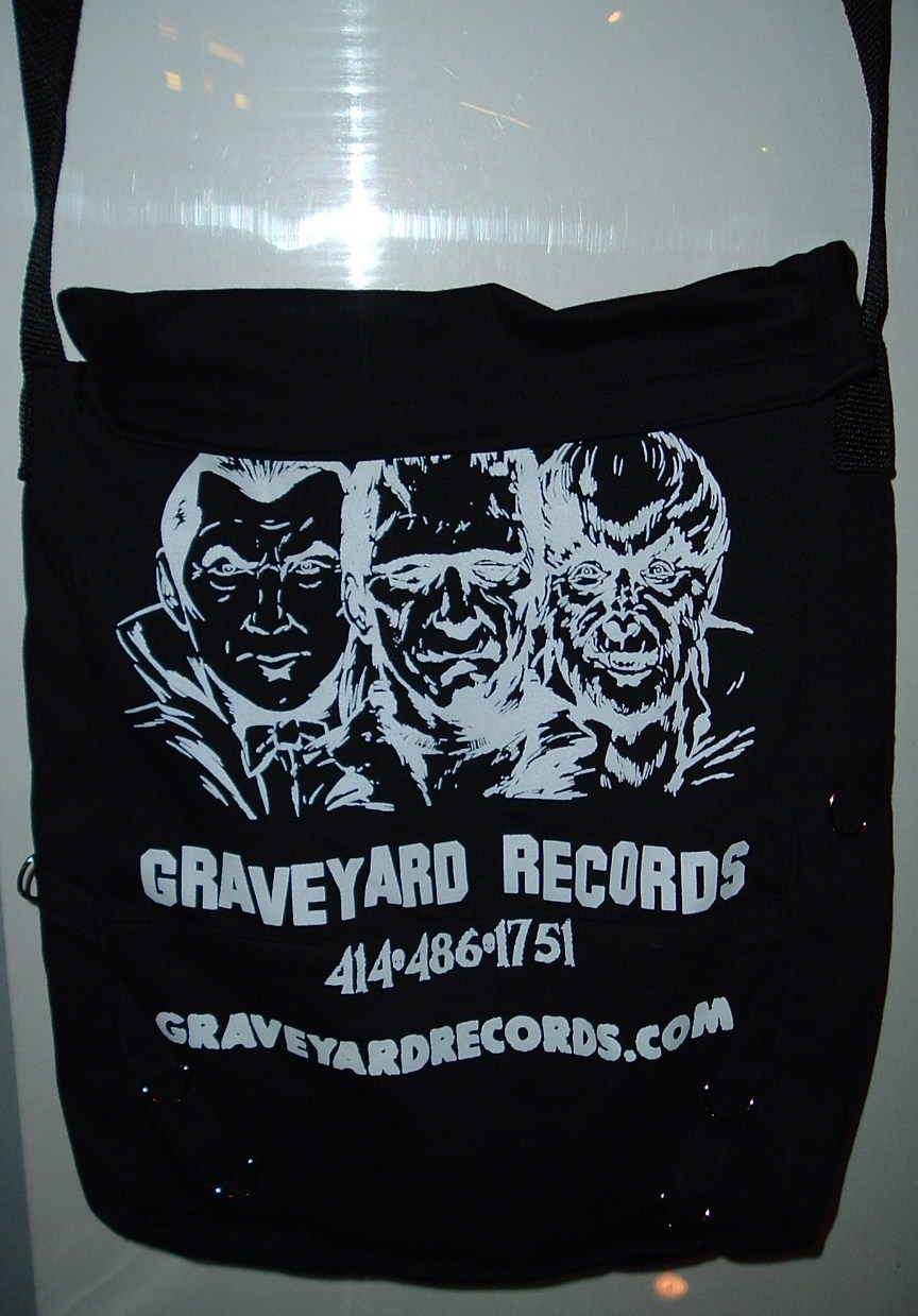 Graveyard Records Messenger Bag ** Classic Monsters **