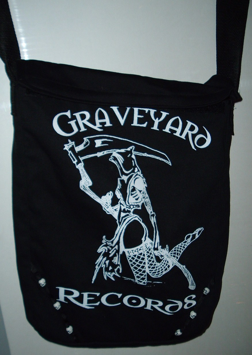 Graveyard Records Messenger Bag ** Reaper **