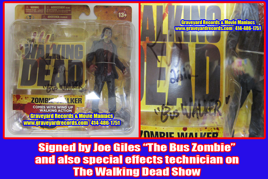"8"" Autographed The Walking Dead TV Series 1 Zombie Walker Joe Gi"