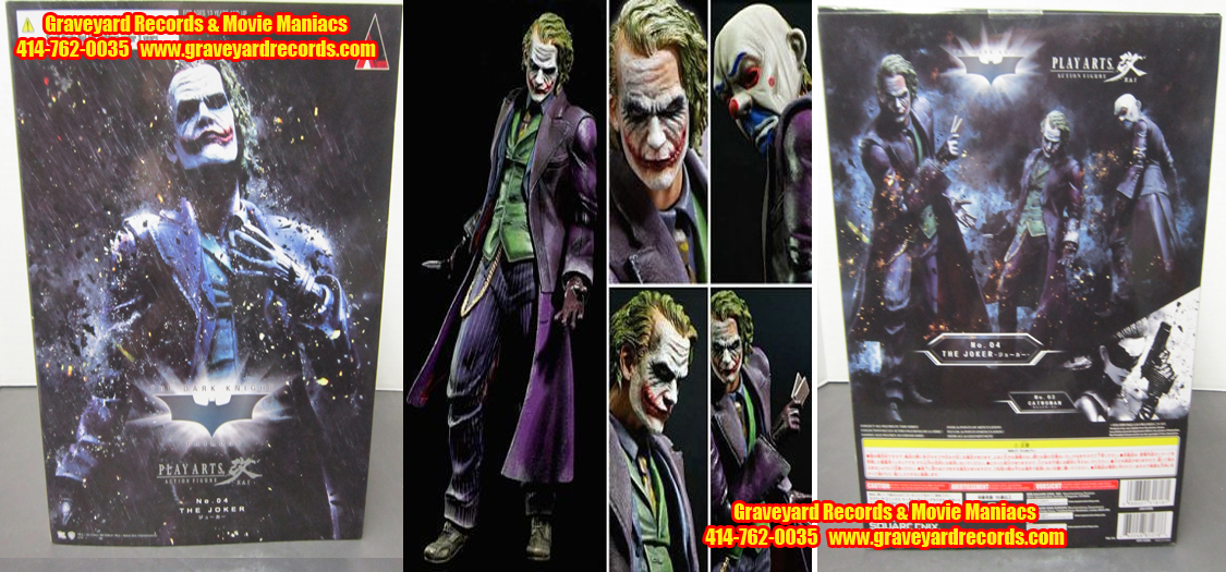 "10"" Joker Arkham Knight - Play Arts kia Figure"