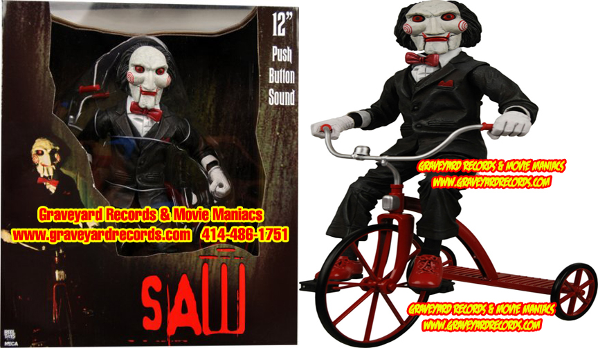 "12"" TALKING Saw Billy the Puppet with Tricycle Talking Figure"