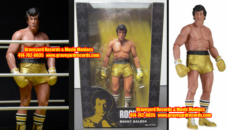 "8"" 40th Anniversary Rocky III Rocky Yellow Trunks"