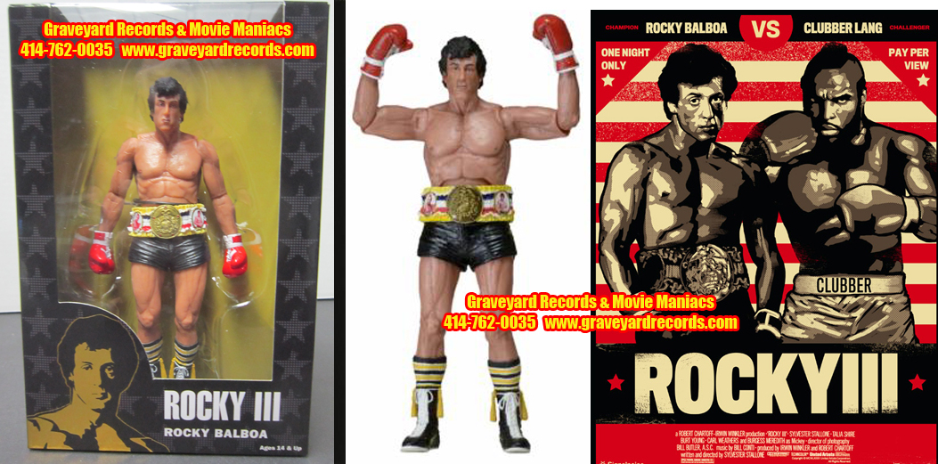 "8"" 40th Anniversary Rocky III Rocky Black Trunks"