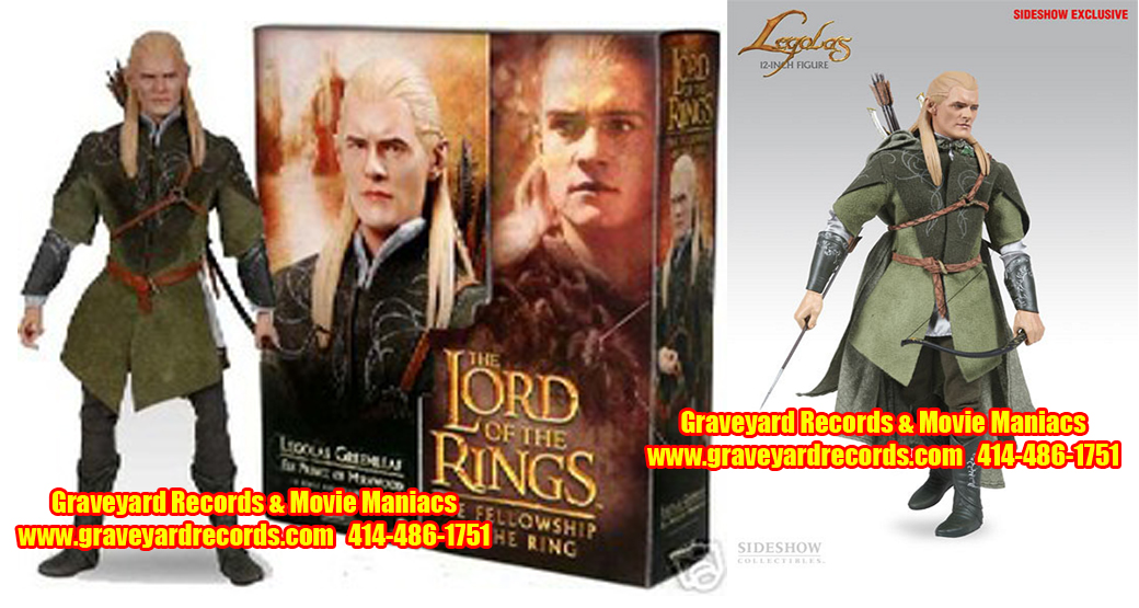 "12"" Lord of the Rings Sideshow Legolas Exclusive"