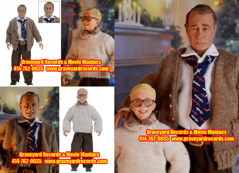 "8"" Christmas Story - Ralphie & Old Man Retro Figure Set"