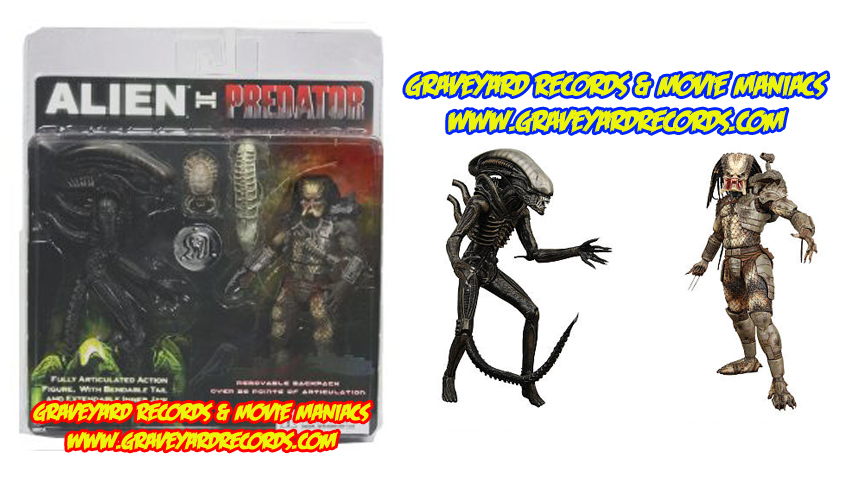 "8"" Neca Toys Alien vs Predator Exclusive 2 Pack"