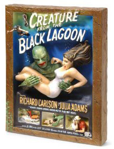 Legendary Casts:Creature From The Black Lagoon 3-D Poster/Statue