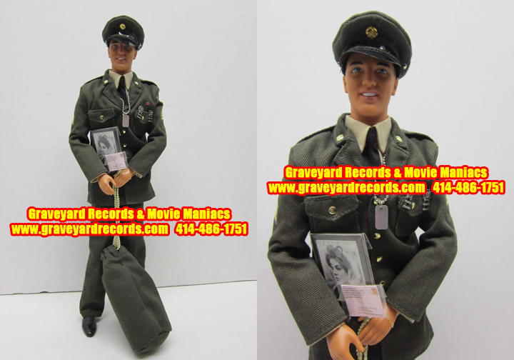 "12"" Elvis - The Army Years Doll - Hasbro Toys - OPENED"