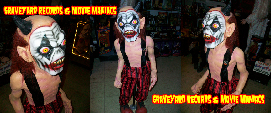 4' Evil Demon Clown Display