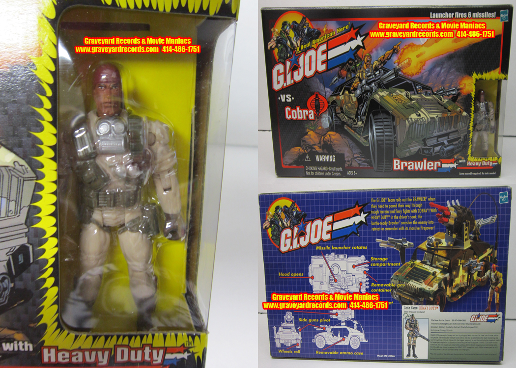 GI Joe Vs Cobra - Brawler w/ Heavy Duty (2002)