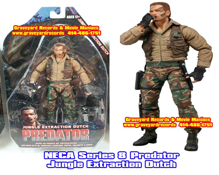 "8"" Neca Toys Predator Series 8 - Jungle Extraction Dutch"