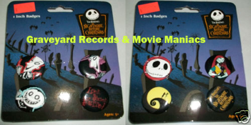 Nightmare Before Christmas Pin Set
