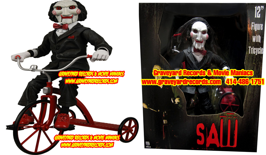 "12"" NON-TALKING Saw Billy the Puppet with Tricycle Figure"