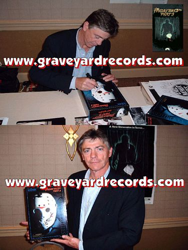 "12"" Autographed -- Friday the 13th pt 3 - Richard Brooker"