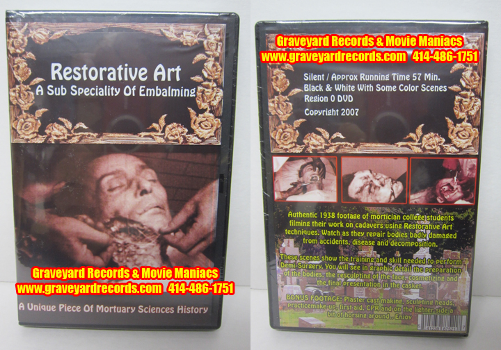 Restorative Art - A Sub Specialty Of Embalming DVD