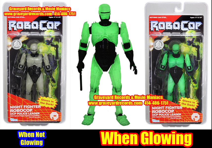"8"" Robo Cop Neca Toys - Glow In The Dark Release"
