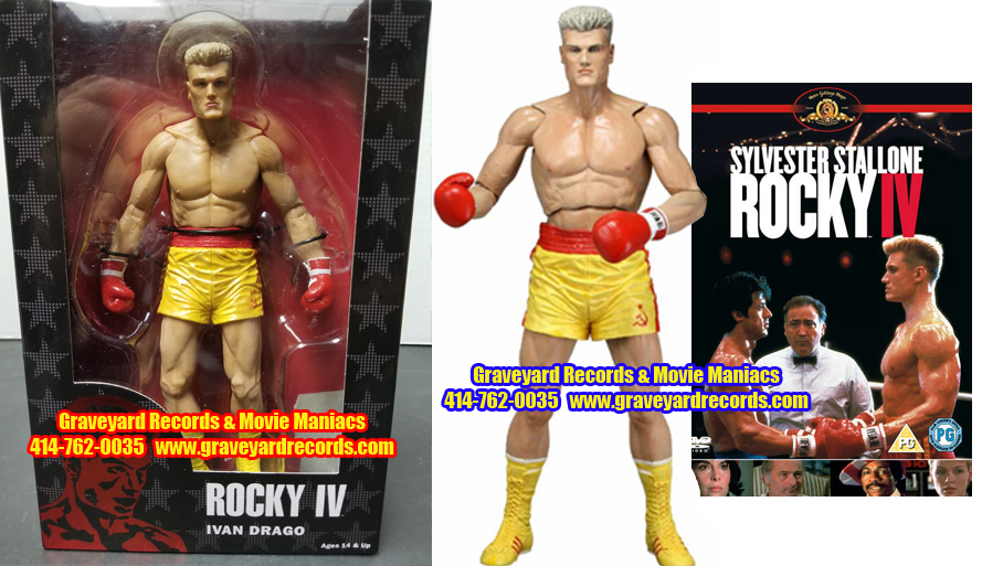 "8"" 40th Anniversary Rocky IV Ivan Drago Yellow Trunks"