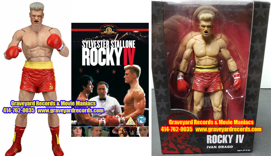 "8"" 40th Anniversary Rocky IV Ivan Drago Red Trunks"