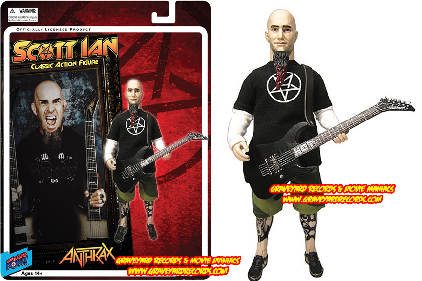 "8"" Scott Ian - Anthrax Retro Style Figure"