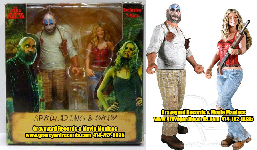 "8"" Capt. Spaulding / Baby Devils Rejects 2 Pack Comic Con."