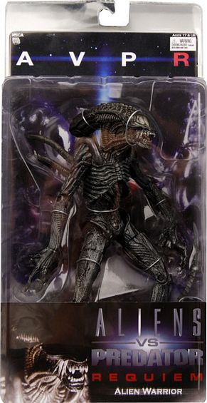 "8"" Neca Toys AvP: Requiem Series 1 Alien Warrior Action Fig"