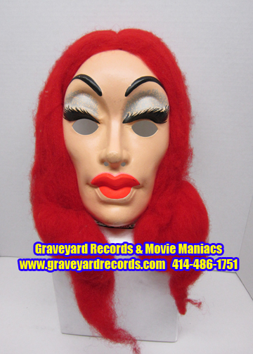 Vintage Vampira Red Haired Mask