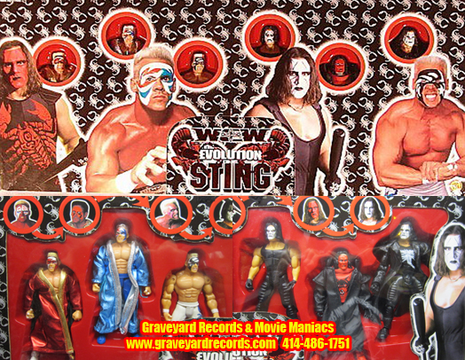 WCW The Evolution of Sting 6-Figure Set