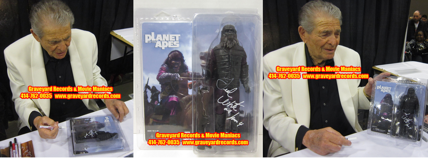 "8"" Planet Of The Apes Gorilla Solider Retro Signed Ted White"